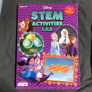 Both Disney Stems Activity Lab projects books